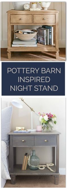 Pottery Barn inspired nightstands built for a fraction of the cost - WITH FREE PLANS