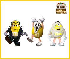 M&M's Chile - ¡CONCURSO!, Amarillo se está preparando para halloween y no sabe cual disfraz ponerse ---------