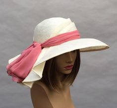 Kentucky Derby hat Sonya beautiful straw hat with by LuminataCo