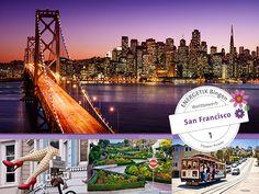 Kategorie 1 San Francisco – Trainingsreise mitten in den amerikanischen Traum  Als Stadt der Blumenkinder stand San Francisco in den 60ern im Blickpunkt der Welt. Noch heute spiegelt sie mit ihrem weltumspannenden multi-ethnischen Flair einen bedeutenden Teil des amerikanischen Traums. Erleben Sie eine ewig junge, brodelnde Stadt, die mit ihrer strahlenden Eleganz Inspiration für Lebenskunst und alternative Ideen ist. Wenn Sie wollen, dürfen Sie eine Blume im Haar tragen, wenn Sie in diese…