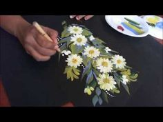 One Stroke Painting-Decorative Floral Composition-Daisy - YouTube