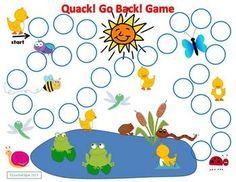 Free! Quack! Go Back! Game is an open-ended board game fun to play while working on any targeted skill. It comes with 20 of my Final /k/ Articulation Cards for articulation, phonological awareness, phonics or rhyming practice #speechsprouts