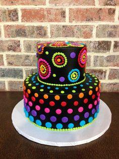 Trendy Birthday Cake Ideas For Teens Neon Glow Party - Shopkins Party Ideas Neon Birthday Cakes, Birthday Cakes For Teens, 13th Birthday, Colorful Birthday Cake, Purple Birthday, Birthday Cupcakes, Birthday Ideas, Birthday Cards, Pretty Cakes