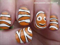 clownfish, finding nemo, nail art, nemo