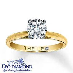 Leo Diamond Artisan Ring 1 Carat Diamond 14K Yellow Gold