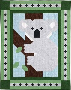 Aussie Patch Quilt Kit - Take a trip down under with this fun-to-piece koala Patch Pal crib quilt! Quilt Baby, Baby Quilt Patterns, Paper Piecing Patterns, Boy Quilts, Quilting Patterns, Patch Quilt, Quilt Blocks, Elephant Quilt, Patchwork Baby