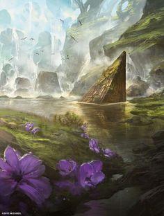 """ Breeding Pool "" Magic the Gathering full art Zendikar Expeditions land"