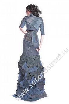 vestido de novia de mezclilla