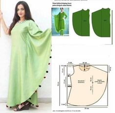 Assymetrical dress pattern Order via line : Modelliste Pattern (withNo photo description available. Fashion Sewing, Diy Fashion, Ideias Fashion, Kurta Designs Women, Blouse Designs, Dress Sewing Patterns, Clothing Patterns, Sewing Clothes, Diy Clothes