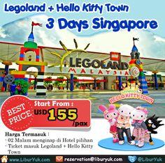 Ingin liburan ke #Singapore? Yuk nikmati wisata #Theme #Park dunia, #Legoland dan #Hello #Kitty #Town sekarang juga! Kini telah tersedia paket 3 hari Singapore – Legoland + Hello Kitty Town dengan harga terjangkau lho.  Dapatkan Spesial Paket tersebut dari #LiburYuk http://liburyuk.com/promotional-package/book/522513831/3-D-Legoland-plus-Hello-Kitty-land #AbbeyTravel #jalan2 #holiday