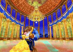「美女と野獣」 ディズニー描き起こし シリーズ #paintings #絵 #アート #Disney