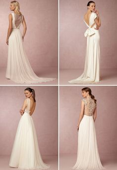 The prettiest back details on these BHLDN wedding dresses