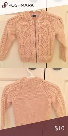 Pink Cable Knit Zip up Sweater by Baby Gap Pink cable knit zip up in EUC. Color in stock photo is most accurate. ⭐️ 5 Star Seller ⏰Fast Shipper 💗 Read my Reviews! Note: All children's items are as is/final sale. GAP Shirts & Tops Sweaters