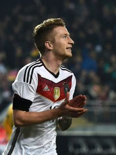 Marco Reus after scoring the first goal at the match against Australia right after he got back into the squad!