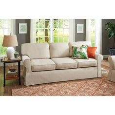Leather Sleeper Sofa Better Homes and Gardens Slip Cover Pala Sofa Ivory Awesome products selected by Anna