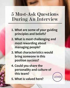Good questions #Jobinterviews