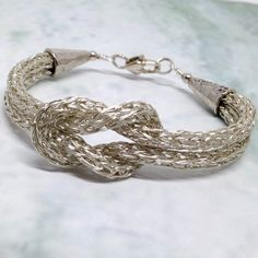 Yes, THE Love Knot bracelet. One of my most popular designs, this ladies viking knit love knot bracelet is an amazing piece for yourself, or as a gift for someone special. Also known as the Hercules K