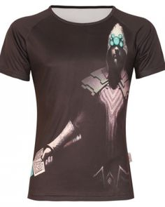 Mens Master Yi 3D tight tshirt for summer short sleeve plus size League of Legends t shirt-