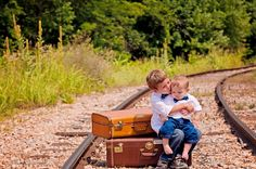 Railroad tracks....Tracks and Planes Family Session » Artful Adventures Photography