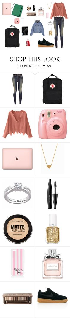 """Unbenannt #42"" by fatmahemmings ❤ liked on Polyvore featuring rag & bone, Fjällräven, Fujifilm, Minnie Grace, MAKE UP FOR EVER, Maybelline, Essie, Victoria's Secret, Christian Dior and Urban Decay"