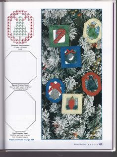 Plastic Canvas Ornaments, Plastic Canvas Christmas, Plastic Canvas Crafts, Plastic Canvas Patterns, Christmas Decorations For The Home, Christmas Tree Ornaments, Holographic Paper, Cross Stitching, Needlepoint