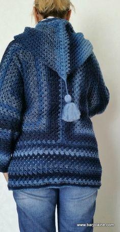 Cardigan Au Crochet, Gilet Crochet, Crochet Poncho Patterns, Crochet Coat, Crochet Jacket, Crochet Cardigan, Crochet Clothes, Pull Crochet, Diy Crochet And Knitting
