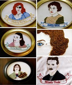 The BRILLIANT BRILLIANT BRILLIANT embroidery work of Miss Jennifer Andrews of Children Playing With Fire. She is truly a Mistress of The Stitch and inspires me NO END.