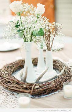 1000 id es sur centre de table de fleurs blanches sur pinterest centres de table de mariage Centre table mariage plage idees