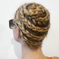 Dutch snail braid by Jasmine Farro