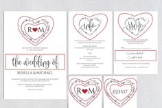 Wedding Invitation Template Wpc84 by WeddingPrintablesCo on @creativemarket