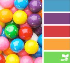 Gumball Brights colour palette by Design Seeds Colour Pallette, Color Combos, Color Schemes, World Of Color, Color Of Life, Paleta Pantone, Color Concept, Colour Board, Color Swatches