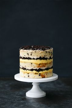 Buttermilk  Chocolate Chip & Passionfruit Naked Layer Cake Recipe from Cristina Tosi of Milk Bar