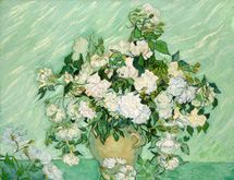 Roses  Vincent Van Gogh, May 1890          oil on canvas 71×90 cm , National Gallery of Art ,Washington
