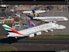 An Emirates A380-800 at Sydney airport.
