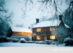 This place is perfect. Walnuts Farm – Nick & Bella – the rustic shoot location house Country Living Uk, Country Living Magazine, Country Life, Beautiful Winter Pictures, English Decor, Winter Scenery, Dream House Exterior, Old Farm, Deck The Halls