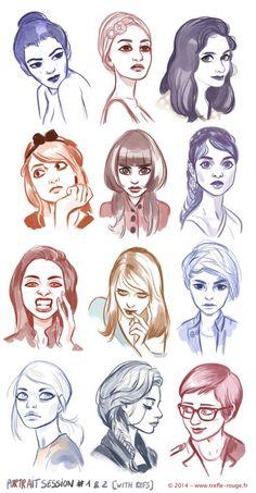 Portrait session #1 & # 2 from refs : Artwork © Jérémie Fleury Website / Facebook / Twitter sources : https://www.facebook.com/125639080827098/photos/a.247302388660766.63757.125639080827098/667448106646190/?type=1&notif_t=like