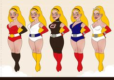 """Character Design von Iris Luckhaus für die Superheldin Barbararella, für eine Kolumne im """"Barbara"""" Magazin von Barbara Schöneberger im Gruner und Jahr Verlag"""