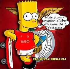 - Benfica Wallpaper, Image Fun, Bart Simpson, Portugal, Soccer, Cool Stuff, My Love, Grande, Cartoons