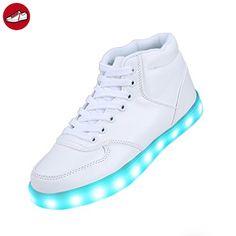 (Present:kleines Handtuch)Rote EU 41, Sneaker Herren USB aufladen und Kinder Leuchtend Damen JUNGLEST® LED-Licht Schuhe Freizeitschuhe Mode Sportschuhe Wechseln Farbe Outd