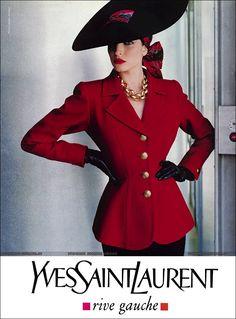 Stephanie Seymour for Yves Saint Laurent #90s supermodel