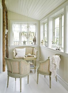 I'd love to have a little sun room sitting area off of the master (or any other) bedroom.