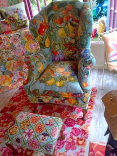 "Beautiful ""Technicolor Dream Chair"" by Kaffe Fassett"