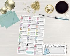 Pinning so I don't forget!! Remember to go back and check out Crafted By Corley on Etsy. Doctor's Appointment Colorful Stickers - Erin Condren Life Planner Stickers Dr. Appointment Sticker Doctors Appointment Planner Dr. Visit by CraftedByCorley