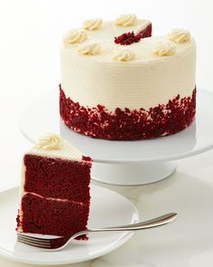 Red Velvet Cake, by Annie Pie's Bakery at Neiman Marcus Gourmet Desserts, Gourmet Recipes, Cake Recipes, Fancy Desserts, Whoopie Pies, Snickers Cupcakes, Red Velvet Cake Decoration, Bolo Red Velvet, Pie Bakery