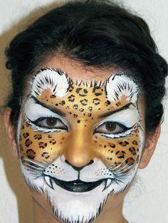 cheetah face paint design by olga meleca
