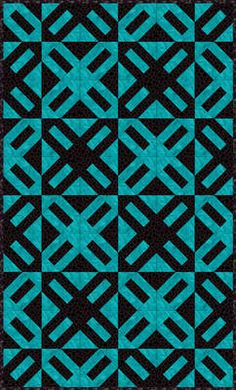 Cracker Quilt- I've seen this pattern  -- probably have it  -- but I love it in this color scheme.