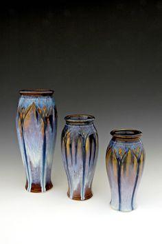 Carved Classic Vases by Bill Campbell Studios Pottery Vase, Ceramic Pottery, Ceramic Decor, Bill Campbell Pottery, Sunflower Vase, Keramik Vase, Mosaic Crafts, Modern Ceramics, Ceramic Artists