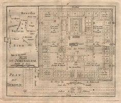 034-Plan-de-Jerusalem-amp-du-Temple-034-by-BRION-DE-LA-TOUR-Palestine-Israel-1777-map