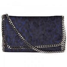 Stella McCartney, blue leopard handbag #THEOUTNET #FashionMath