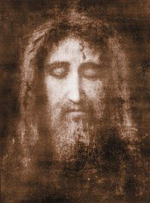 The Holy Face of Our Lord Jesus Christ imprinted on Veronica's veil.